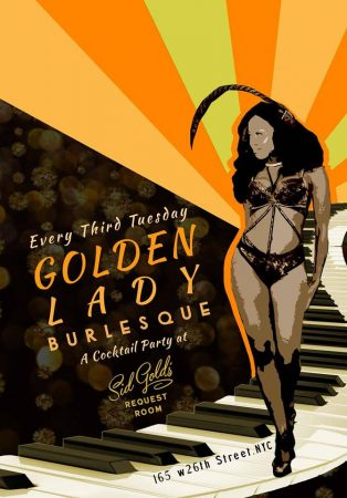 Golden Lady Burlesque @ Sid Gold's Request Room   New York   New York   United States